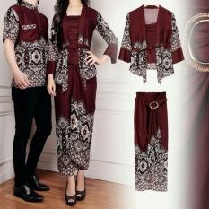 Kedai_Baju Baju Batik / Batik Pasangan / Batik Couple Maulana Coklat