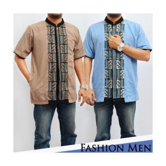 Kembar Baju Koko Pria Nurdiansyah Blue