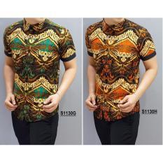 Herman Batik Kemeja Batik Slimfit A8144 Pria Kombinasi Muslim Koko