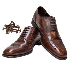 keren 10 buah New kebaruan tanpa mengikat tali sepatu silikon elastis untuk pria wanita