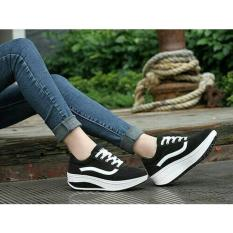 Kets Wedges Vanz - Hitam - Best Seller