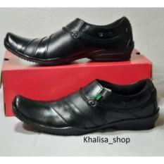 Kickers sepatu pria Kulit Asli model KR 018 Black