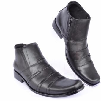Kickers Sepatu Pria Sepatu Bots Sepatu Kerja Sepatu Formal Kulit Pria Pantofel - Andree 333 - Hitam