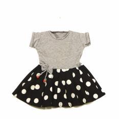 KidstaFUN Dress Baju Kaos Anak / Balita Perempuan Lengan Pendek Varian Rossa 1 Tahun - Multicolor
