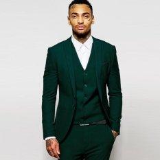 Kingdom Fashion / Jas Warna Hijau Tua / Jas Bahan Wol Bellini Best Quality / Blazer