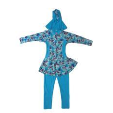 Kira Sport Baju Renang / Baju Renang anak Muslim KSBR01-Blu, XL - Biru