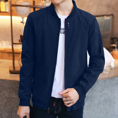 Korea Fashion Style musim semi baru siswa jaket jaket pria (3288 biru)