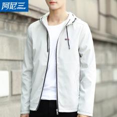 Korea Fashion Style Pria Musim Semi dan musim gugur baru tampan jas (Abu-abu)