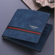 Korean Nubuck Leather S-wallet Concise Fashion Business Card Holders Wearproof Money Clips ϼ