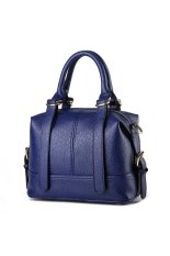 Korean Style Girls Mini Tote Bag Fashion Solid Color Women Top-Handle Bags Blue