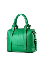 Korean Style Girls Mini Tote Bag Fashion Solid Color Women Top-Handle Bags Green