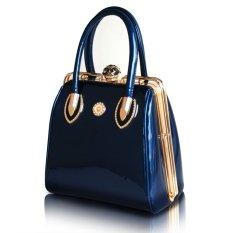 Kristal hiasan wanita tas pesta tas pernikahan tas wanita merek desainer - Biru