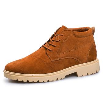 Kulit Asli Pria Boots Pendek Boot terbuka Kerja Sepatu Genuine Leather  Men s Boots Short Boot Outdoor 4c8fad4e6a