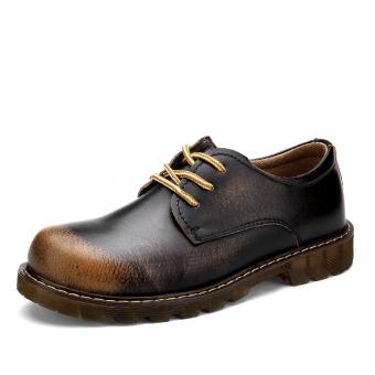Kulit Asli Sepatu terbuka Kerja Boots Sepatu Martin Boots KantorBisnis Leather Shoes Outdoor Working Boots Martin