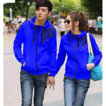 kyoko fashion jaket couple blue -(blue)