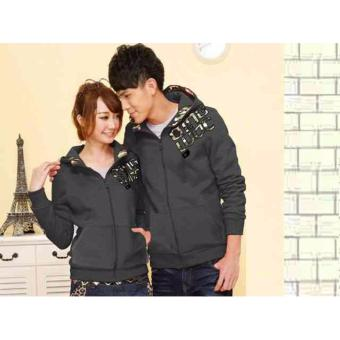 kyoko fashion jaket couple grey -(grey)