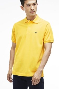 Lacoste Men s Classic Pique L.12.12 Original Fit Polo Shirt Yellow - Intl f7201533f0