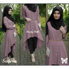 Ladies Fashion 3 GAMIS Citra Shakila/ Hijab Muslim / Muslim Syari Hijab Safira / Busana Muslim / Kebaya Modern SS - Dusty Pink