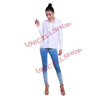 Ladies Fashion REAL PICTURE Kemeja Wanita Lengan Panjang Polos Emmi / Hem Fashion / Kemeja Cewek
