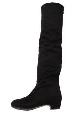 LALANG Flat Boots Tinggi (Hitam)