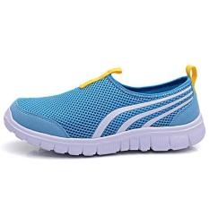 LALANG New Fashion Women Casual Shoes Cheap Walking Flats Shoes Breathable Blue (Intl)