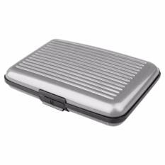 Lanjarjaya Card Guard Aluminium Wallet - Dompet Penyimpanan Kartu Serbaguna - Silver