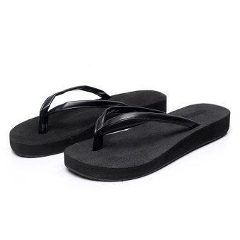 48fdbe0908fb21 LCFU764 Women s New Fashion Summer Sandals Beach Soft Open Toe Slippers-black  - Intl