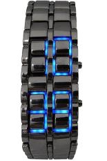 LED Iron Samurai Jam Tangan Pria - Hitam - Stainless Steel - LED825