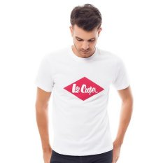 Lee Cooper Kaos Pria Regular Fit White Dan Logo