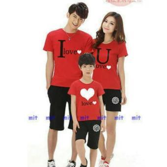 legiONshop-Kaos keluarga | baju keluarga | baju couple FAMILYLOVELY red ( Ayah+Ibu