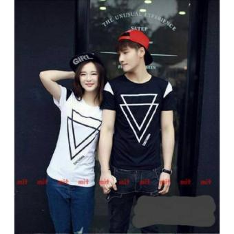 legiONshop-Kaos pasangan/T-shirt couple-TRIANGLE-black white