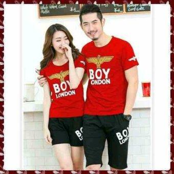 legiONshop-stelan(atasan+celana)kaos pasangan/t-shirt couple BOY red