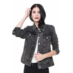Levi's Boyfriend Trucker Jacket - Mountain Black