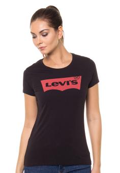 Levi's Slim Crew Neck Graphic Tee - Black