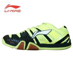 Li-Ning Badminton Shoes Saga Matrix - Lime-Hitam