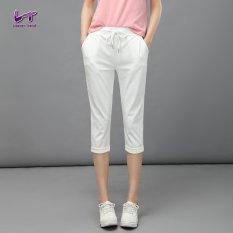 Likener Trend Casual Harem Celana High Elastic Calf-length Celana (White)