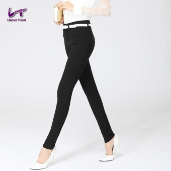 Likener Trend Size Full Length Women Plus Size Pencil Celana (Black)