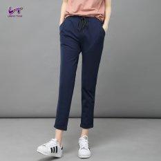 Likener Trend Women Harem Pants Celana Semata Kaki Yang Lembut Dan Nyaman (Biru Laut)