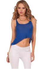 Linemart Casual Summer Tank Top (Blue) - intl