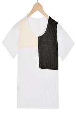 Linemart Retro Short Sleeve T-Shirt (White) (Intl)