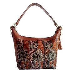 Lin's Craft Tas Kulit Asli - Hobo Long Lukis Batik Becak