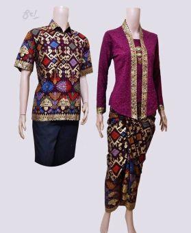 Lokal Batik Couple Gamis Sarimbit Sri Rejeki Solo Bc427