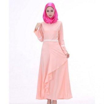 Ofashion Pakaian Muslim AX-5046 Gamis Nayafa Glitter Gaun Lebaran Muslimah - Hitam. OUTLET. Source · Long Sleeve Ruffled Muslim Maxi Dress (Pink) (Intl)