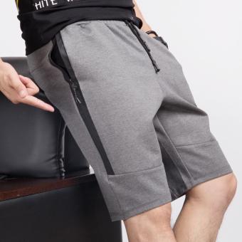 Longgar Laki-laki Musim Panas Kebugaran Kasual Celana Sedang Celana Pendek ( Abu-abu