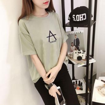 LOOESN Korean-style short sleeved female New style T-shirt (664 * hijau