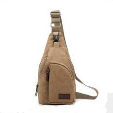 Lovers Canvas Casual Messenger Bag--Boy's Bag (Khaki) - Intl - Intl
