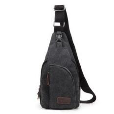 Lovers Canvas Casual Messenger Bag--Girl's Bag (Black) - Intl