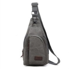 Lovers Canvas Casual Messenger Bag--Girl's Bag (Grey) - Intl