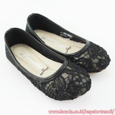 Lunetta Sepatu Anak Perempuan Flat Shoes Fleur - Hitam