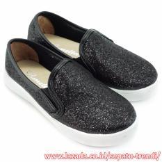 Lunetta Sepatu Anak Perempuan Slip On Diamond Dust FPS - Hitam